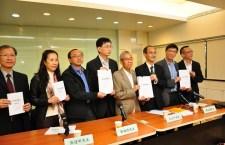 「公民社會聯合行動」發表對佔領運動的民間民情報告。(張卓珺攝)
