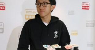 王瀚樑希望同學參與公投,決定抗爭模式。(胡沛怡攝)