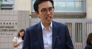 社民連主席吳文遠沒有律師代表,親自結案陳詞。(王燕君攝)