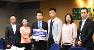 香港社會服務聯會獲發展商捐出地皮,在深水埗興建組合屋,讓輪候公屋的市民作過渡性社會房屋租住。(錢慧琦攝)