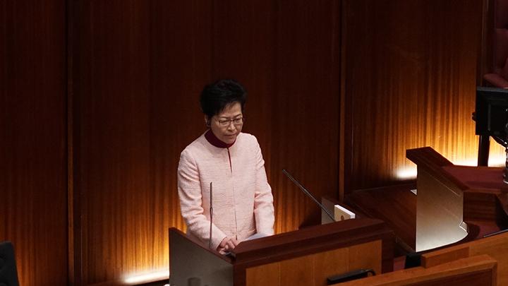 林鄭月娥強調,港府並不知悉沙頭角河改道工程,到目前為止亦認為涉事地點仍是香港土地。(資料圖片)