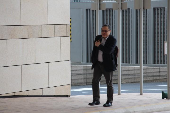 中文大學新聞與傳播學院院長李立峯作為辯方專家證人作供,在2014年10月及11月佔領運動期間,他與團隊共訪問了逾1,200名在佔領區留守的市民,回覆率達95%。(樊曉璁攝)