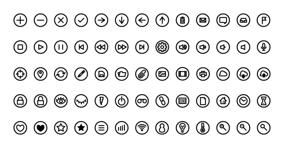 Modern icons