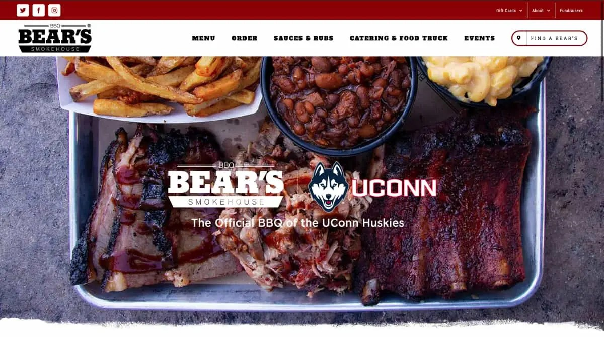 bear's website design