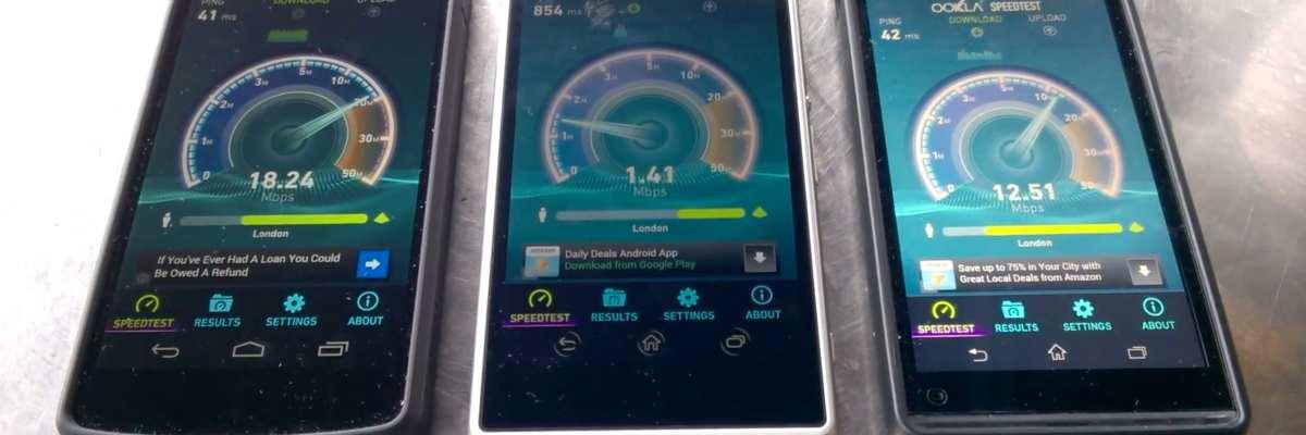 4G Speed testing