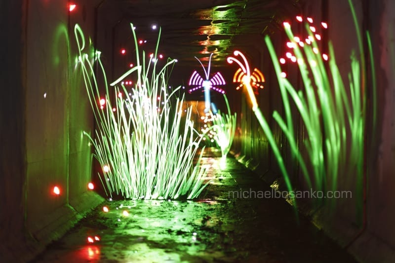 One of the light painting creations from Michael Bosanko (not taken on P8)