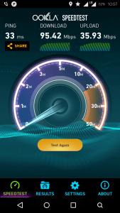 Speedtest result