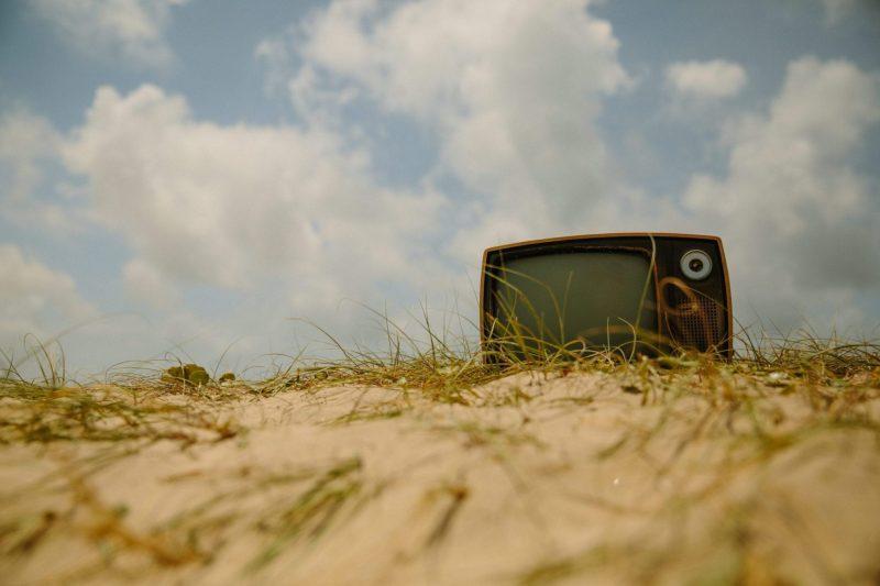 WatchingTVonBeach