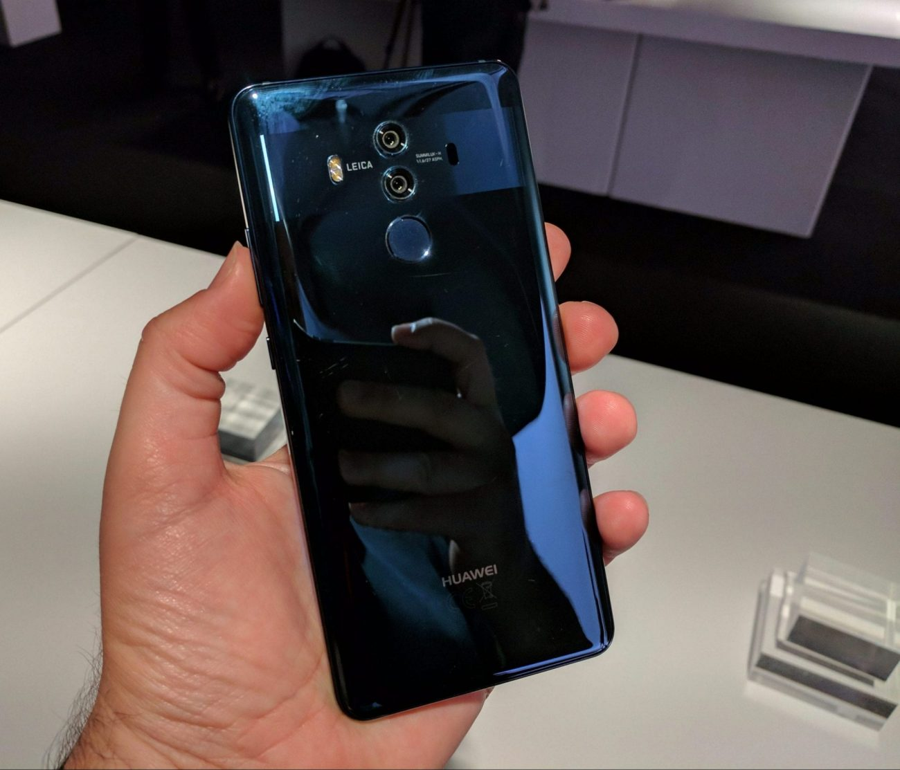 Huawei Mate 10 Pro Rear Blue In Hand