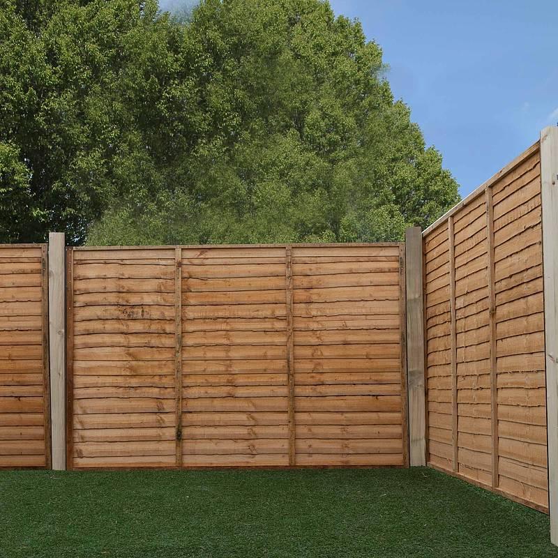 3ft x 6ft Lap Garden Wooden Fence Panels - JMD Building & DIY Supplies