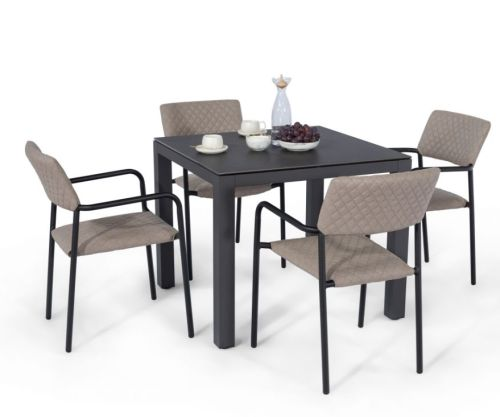 Maze Rattan Milan 8 Seat Round Dining Set With Carver Chairs: Venice 8 Seat Oval Firepit