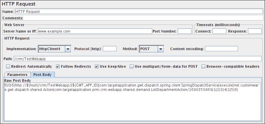 HTTP Request Sampler (4/4)