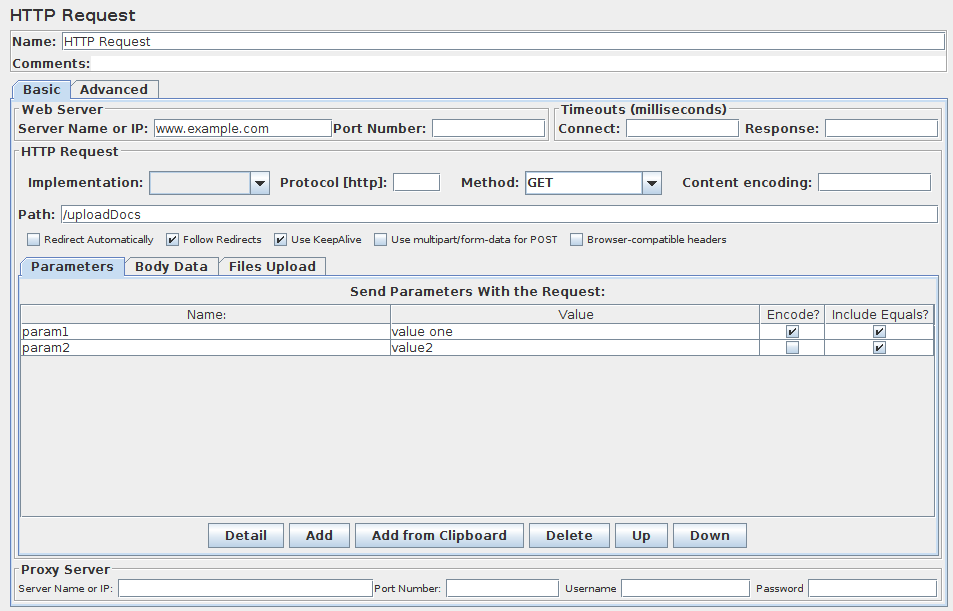 HTTP Request Sampler | Perform