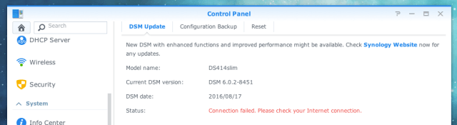 "Handling the Dreaded Synology DSM ""Cannot Connect To The"