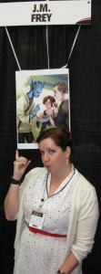 Showing off my Reapersun FanArt at FanExpo 2011
