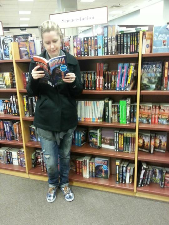 A reader has found a copy of TRIPTYCH in the wild!