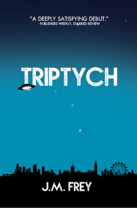 cover of triptych by jm frey