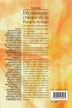 Dictionnaire critique de la parapsychologie