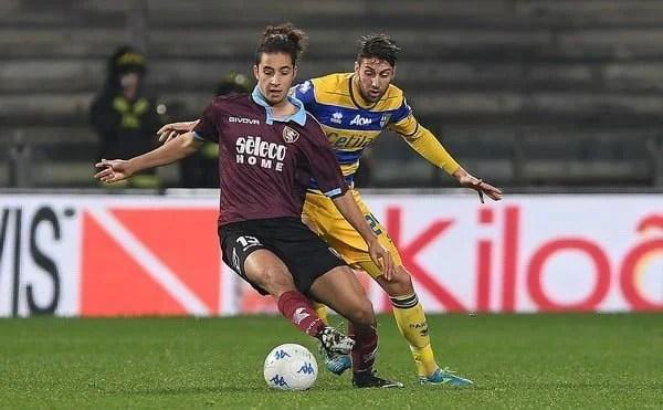 Sofian Kiyine jmg management Sofiane Kiyinei-Salernitana serie B italie academie de soccer jmg