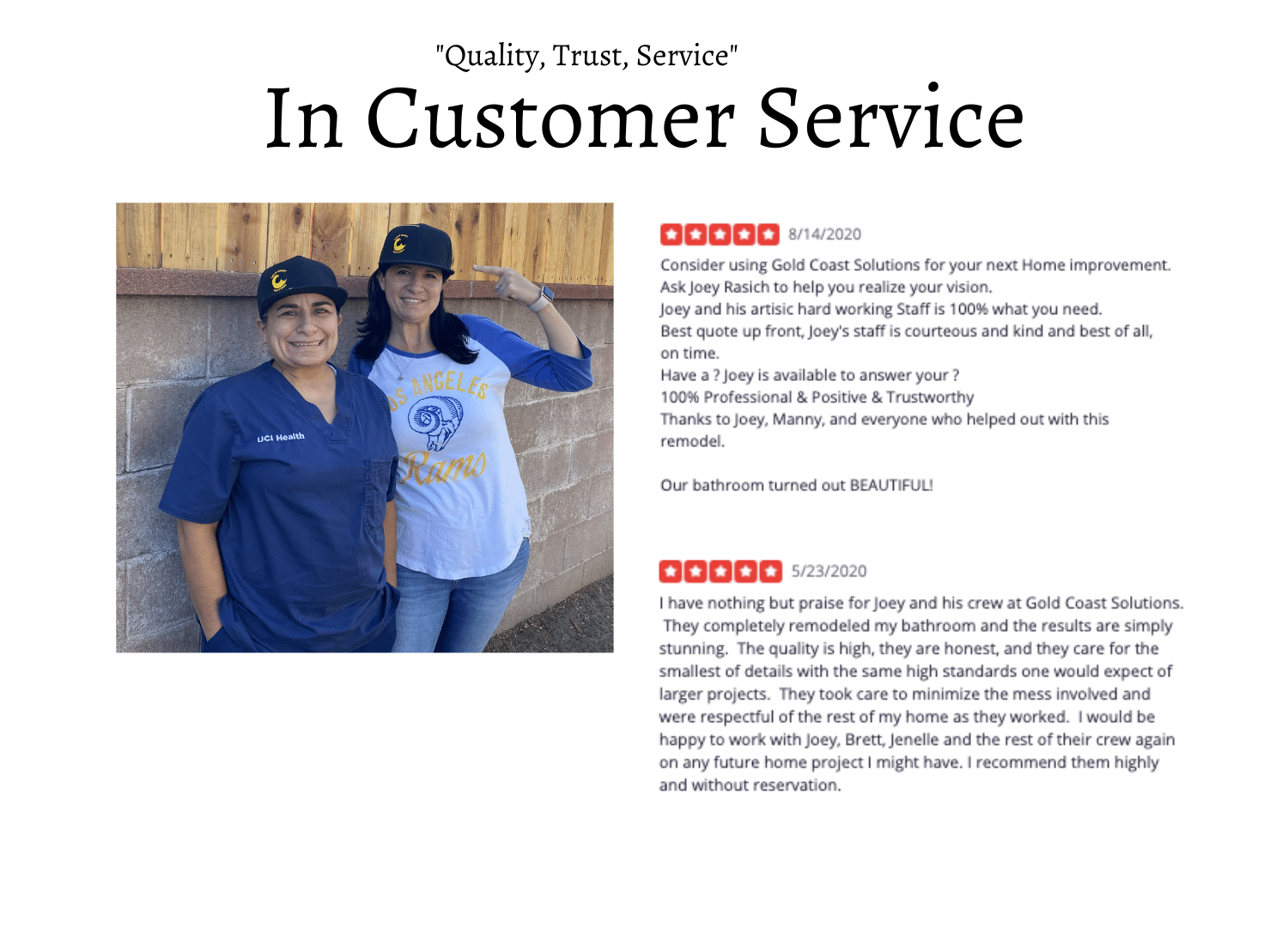 Regularly surveying customers throughout their projects is essential in developing rapport to grow a brand. The brand belongs to the customers as well. To foster messaging, lots of shirts, hats, and praise were given out. Reviews were requested after a positive survey, and often set the stage for a great customer testimonial for the YouTube channel
