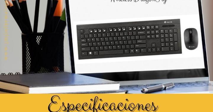 Especificaciones KIT USB TECLADO + RATON NGS WIRELESS DRAGONFLY