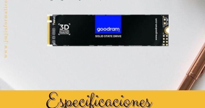 Especificaciones M2 SSD 256Gb GoodRam PX500