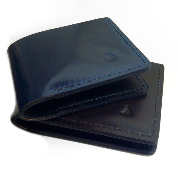 Blue Shell Cordovan Bifold Wallet