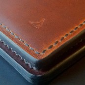 Hand sewn leather goods