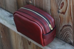 Leather shave cases