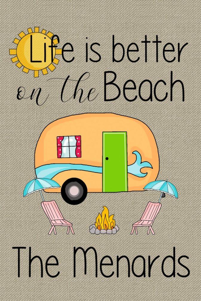 Life is a beach flag