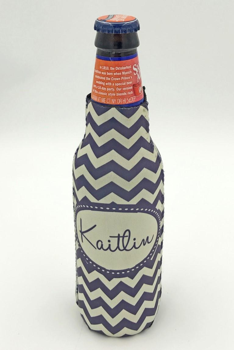 Zip up bottle koozie