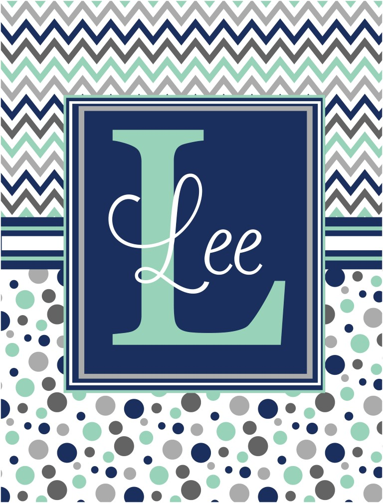 Personalized Garden Flag Chevron and Dots