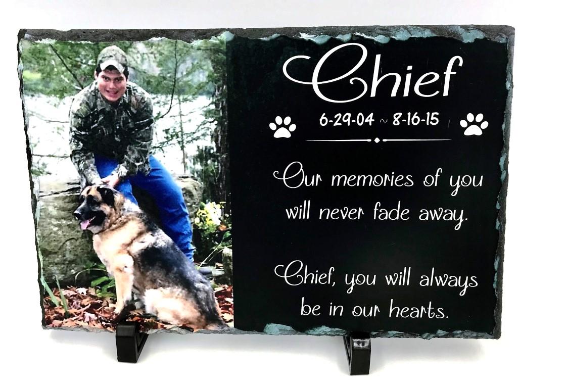 Pet Memorial Slate