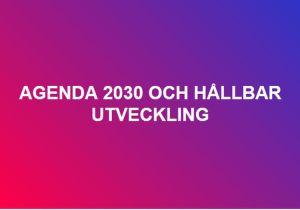 agenda 2030 sverige