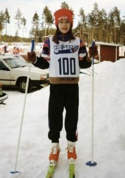 Sin datos de la fecha de esta foto de Sofia Hellqvist esquiando en Älvdalen. (Foto: Familia)