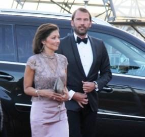 La condesa Alexandra y su marido Martin Jørgensen llegando a la Musikhuset de Aarhus el 8 de abril 2015, para asistir a los festejos del 75 aniversario de la reina Margarita. Es la última vez que se les vio juntos en público. Foto: © M.Mielgo - JM Noticias