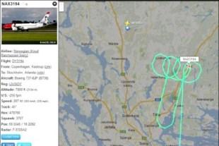 En la página de Flightradar24 se puede ver la ruta del avión pintando los genitales en la pantalla (Foto: captura) PULSAR PARA AMPLIAR