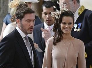 Chris O'Neill y Sofía Hellqvist acudieron juntos a la boda de Victoria de Suecia en el 2010 (Foto: agencias)