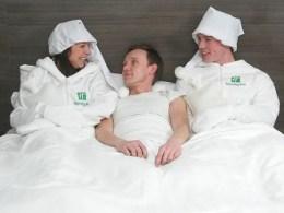 Trabajar como calientacamas en un hotel no cansa mucho. (Foto: Cortesía de Holiday Inn)