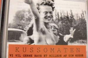 Póster promocional que dice: «Kussomaten. Queremos una foto de tu coño» (Foto: Promocional)