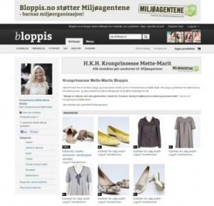La princesa Mette-Marit vende con fines benéficos su ropa usada en bloppis.no - (Foto: captura pantalla) - PULSAR PARA AMPLIAR -