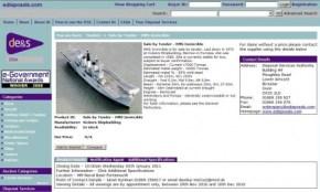 Captura de pantalla de la página edisposals.com donde se anuncia la venta del «HMS Invencible». (Foto: captura de pantalla) - PULSAR PARA AMPLIAR -