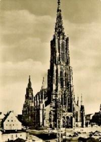 Postal antigua con la catedral de Ulm. (Foto: archivo)