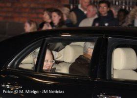 Margarita de Dinamarca feliz al lado de su marido al salir de la catedral de Aarhus, desmintiendo así los rumores de separación de la pareja. (Foto: © M.Mielgo - JM Noticias)