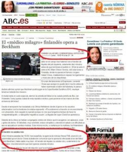 Crónica publicada en ABC y actualizada durante el día (Foto: Captura de pantalla)
