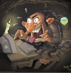 El «troll» en Internet es un capullo que entra a escribir estupideces y a provocar a los demás. (Foto: Ilustración de Formart.nl)