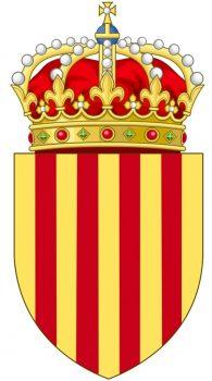 El escudo de Cataluña, que nunca fue un reino ni un país independiente, forma parte de la Corona de Aragón. (Foto: Wikipedia Commons)