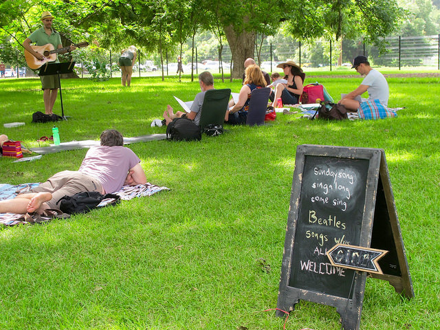 July 2015 Singalong at Barton Springs with The Beatles