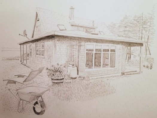 Brier Island View Cottage drawing