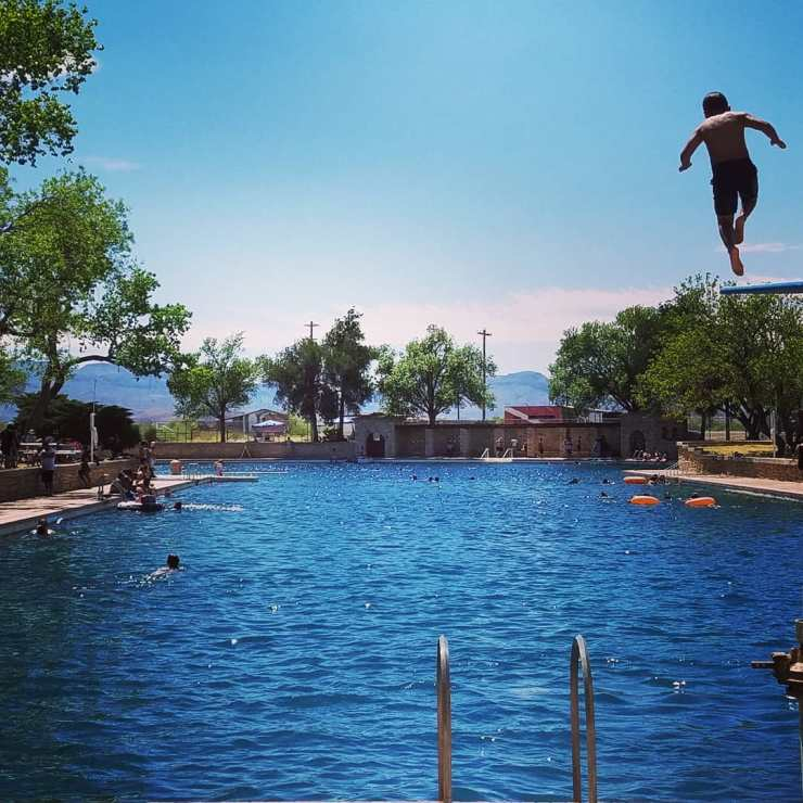 High Diver at Balmorhea Pool